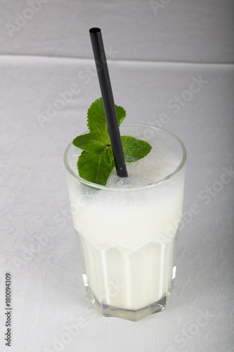Fotobehang Milkshake Milk cocktail