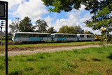 alte Schienenbusse im Bahnhof Zinnowitz - 180103182