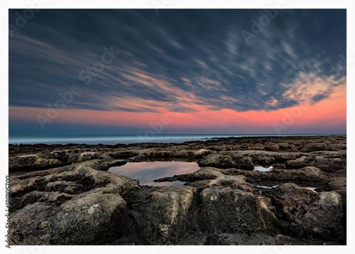 Foto op Canvas Zee zonsondergang Riflessi D'autunno