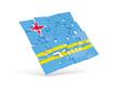 Постер, плакат: Puzzle flag of aruba isolated on white