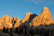 Quadro Panorami dolomitici al tramonto