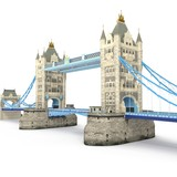 London landmark Towerbridge on white. 3D illustration