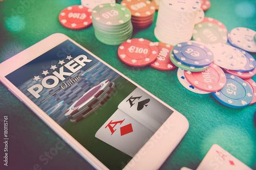 smartphone poker online плакат