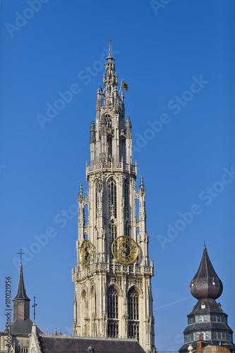 In de dag Antwerpen Onze-Lieve-Vrouwekathedraal in Antwerpen
