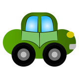 Car toy isolated on white background, Vector illustration