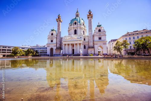 Foto op Plexiglas Wenen Karlsplatz in der Wiener Innenstadt, Österreich