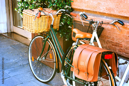 Tuinposter Fiets Italian typical street bike