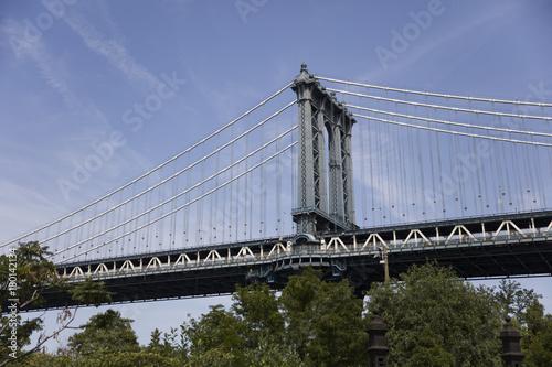 Naklejka Manhattan Bridge w Nowym Jorku
