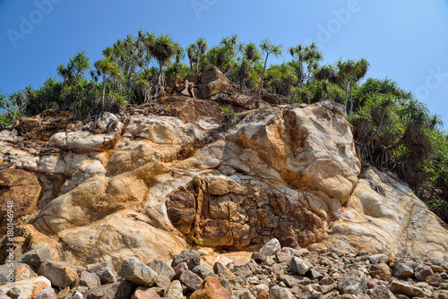 Fotobehang Diepbruine brown hill