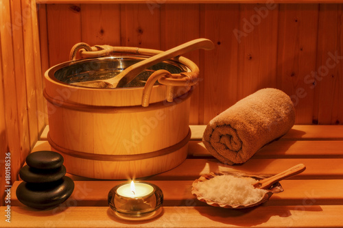 Papiers peints Detente wellness and spa in the sauna