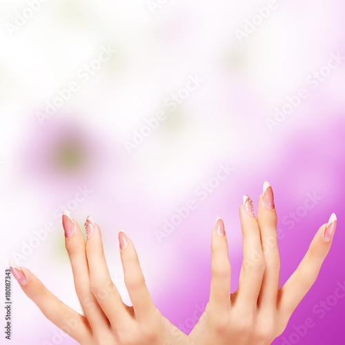 Deurstickers Manicure Woman manicure