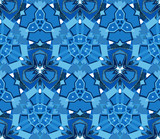 Blue abstract seamless pattern. On white background. Useful as design element for texture and artistic compositions. - 180198378