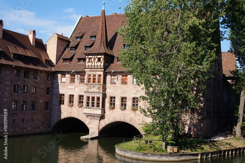 Tuinposter Brugge 8.7.2017 Beautiful and beautiful places in Nuremberg in Germany