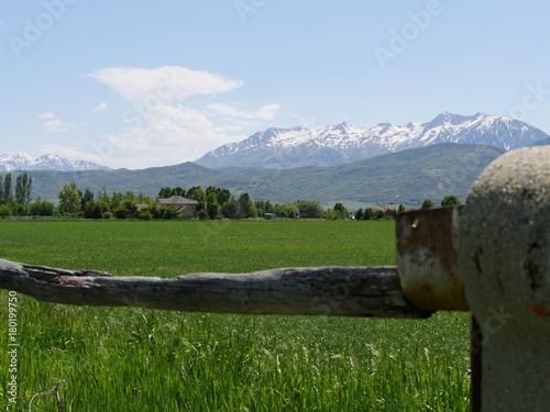 Aluminium Blauwe hemel field