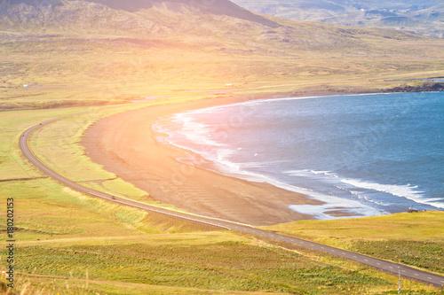 Foto op Plexiglas Beige Western Icelandic sea coastline