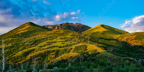 Poster Blauw Landscape nature
