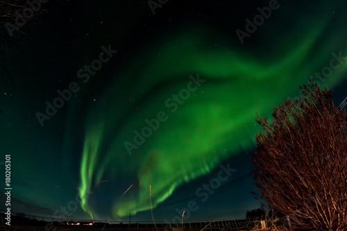 Aluminium Noorderlicht Flames On The Sky