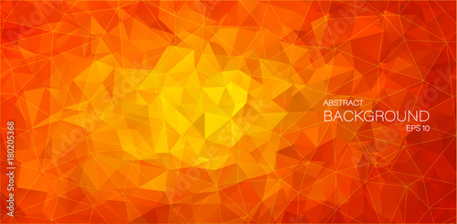 Flat 2D Abstract triangle background - 180205368