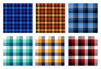 seamless checkered plaid pattern bundle 3. nice for background, wallpaper, and decorative purpose, fabrication and textile design such as flannel etc.
