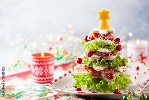 Fridge magnet Christmas tree appetizer