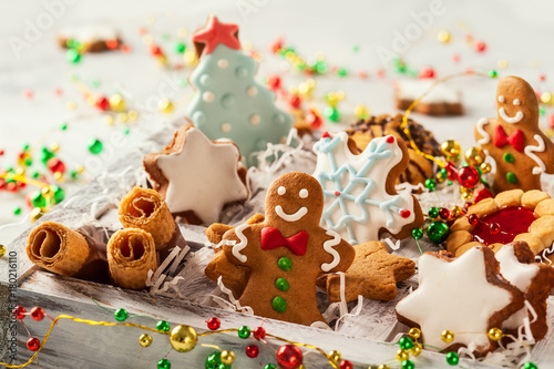 Assorted Christmas cookies - 180216110