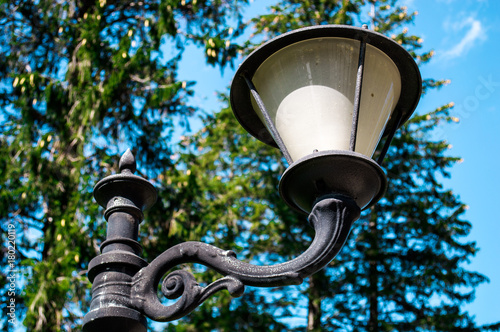 Poster old fashion black and white street lamp