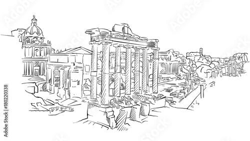 Forum Romanum starożytnego Rzymu
