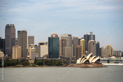 Aluminium Sydney Skyline of Sydney downtown from Taronga hill