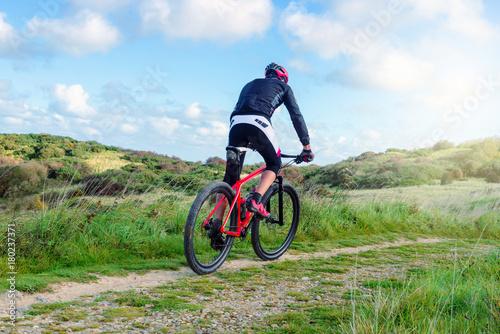 Fotobehang Pool cycliste en plein effort