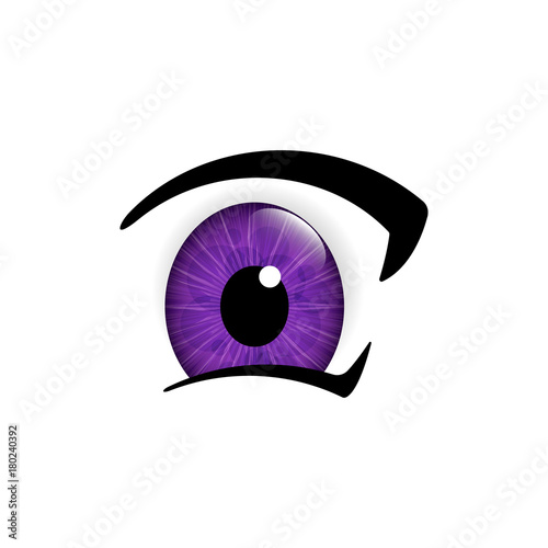 Eye. Human eyes closeup. Beautiful big eyes. Vector illustration - 180240392