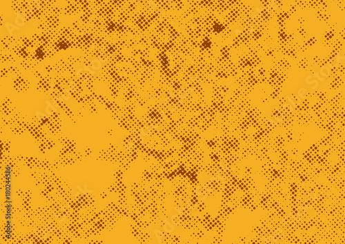 Fotobehang Pop Art Orange halftone retro graphic texture polka dot background