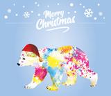 Merry Christmas Bear Wall Sticker