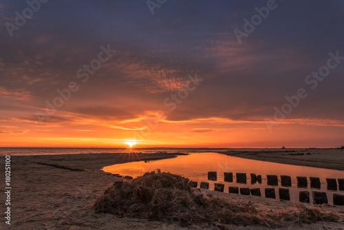 Foto op Canvas Zee zonsondergang Colorful sunrise over the sea. Nature composition.