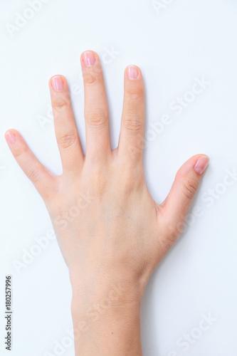 Keuken foto achterwand Spa Hand
