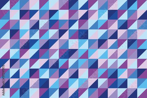 Fototapeta geometric background of triangles in hues of blue and purple
