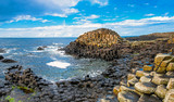 Unesco heritage landscape of the Giant's Causeway in County Antrim. Tourism in Northern Ireland in the United Kingdom. - 180262922