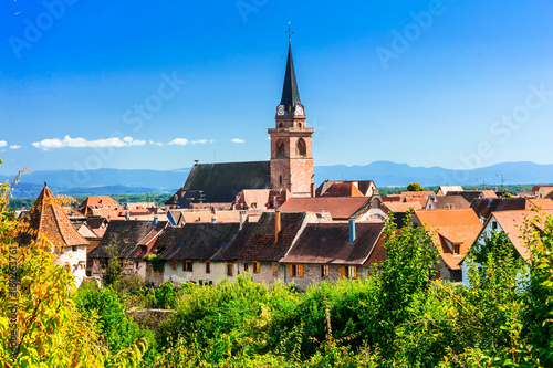 Fotobehang Freesurf pictorial traditional villages of Alsace - famous