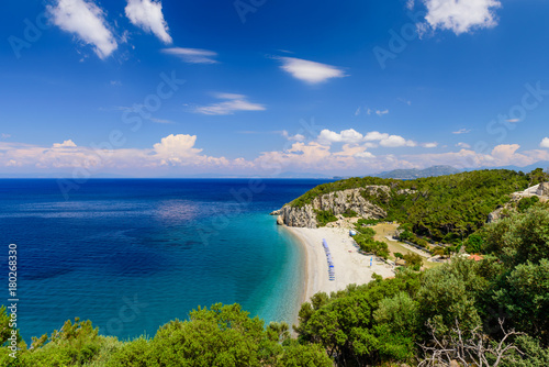 Fotobehang Tropical strand The scenic Tsabou beach, a popular destination on the Greek island of Samos, Greece