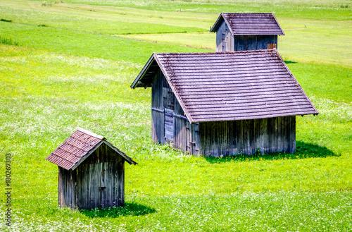 Papiers peints Vert chaux old hut