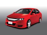 Vector sports red car