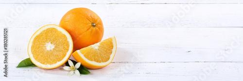 Pomarańczowy Pomarańczowy Owoc Owocowy Banner Kopiować Przestrzeń Drewnianą Deskę