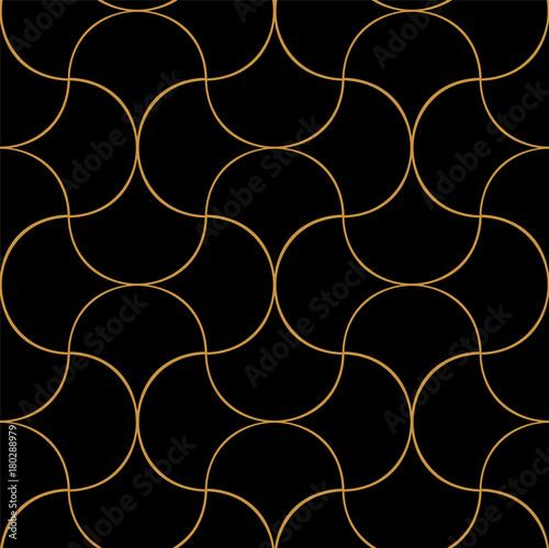 Naklejka Vintage Art Deco Seamless Pattern. Geometric decorative texture.