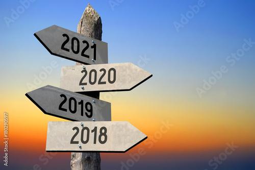 Poster 2018/ 2019/ 2020/ 2021 - signpost/ roadsign