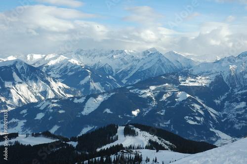 Fotobehang Bleke violet Winter mountains. Tyrol, Austria