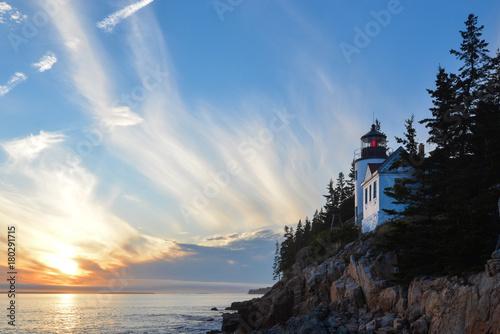 Foto op Plexiglas Beige Bass Harbor Lighthouse