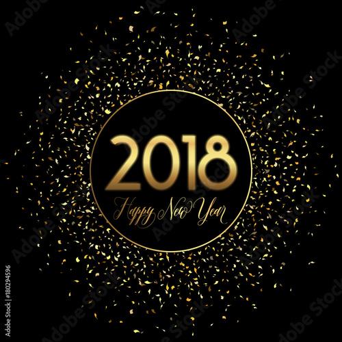 Happy New Year confetti background