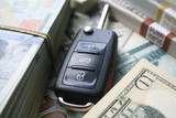 Car Payment With Car Key & Money