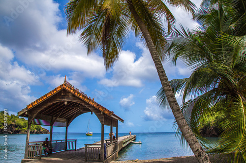 Foto op Canvas Tropical strand Beach views from Martinique island