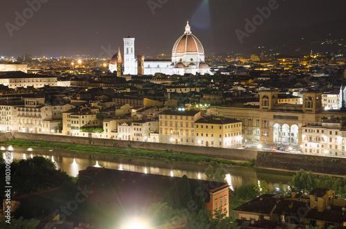 Aluminium Florence panorama of Florence