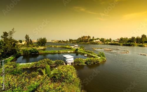 Foto op Canvas Meloen Fish farm - Hoian -Vietnam